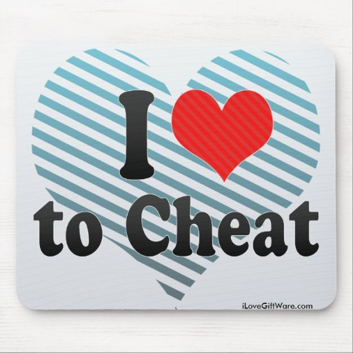I Love to Cheat Mousepad