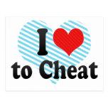 I Love to Cheat Postcard