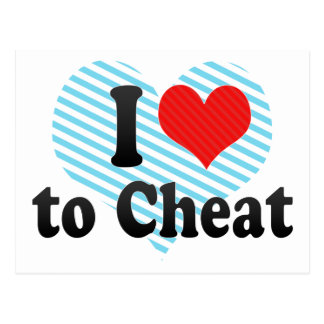 I Love to Cheat Postcard