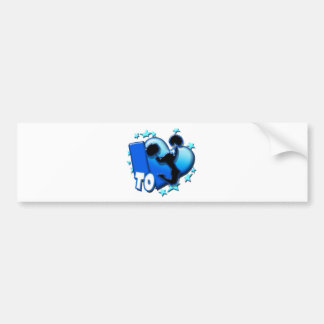 I Love to Cheer (Blue) Bumper Stickers