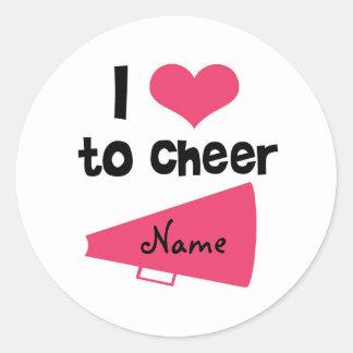 I love to Cheer - Cool Cheerleader Stuff Classic Round Sticker