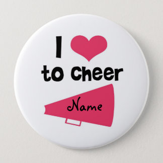 I love to Cheer - Cool Cheerleader Stuff Pinback Button