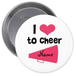 I love to Cheer - Cool Cheerleader Stuff Pinback Button