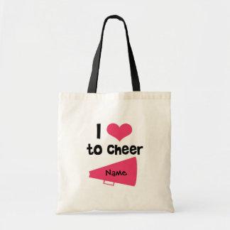 I love to Cheer - Cool Cheerleader Stuff Tote Bag