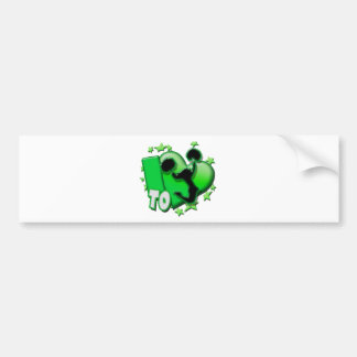 I Love to Cheer (Green) Bumper Sticker
