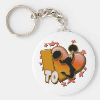 I Love to Cheer (Orange) Keychain