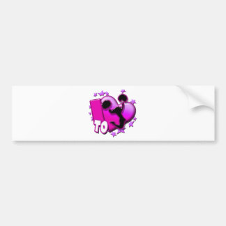 I Love to Cheer (Pink) Bumper Sticker