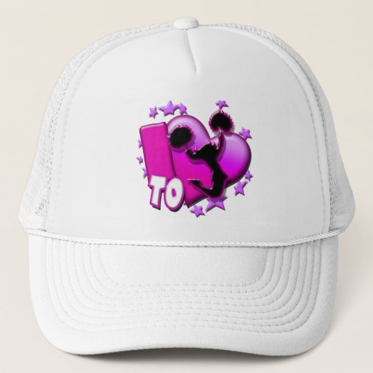 I Love to Cheer (Pink) Trucker Hat