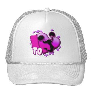 I Love to Cheer (Pink) Trucker Hats
