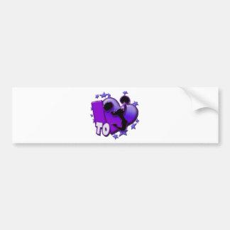 I Love to Cheer (Purple) Bumper Stickers