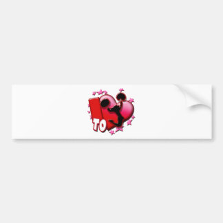 I Love to Cheer (Red) Bumper Stickers