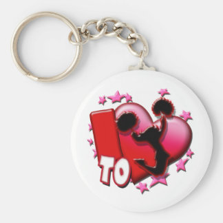 I Love to Cheer (Red) Keychain