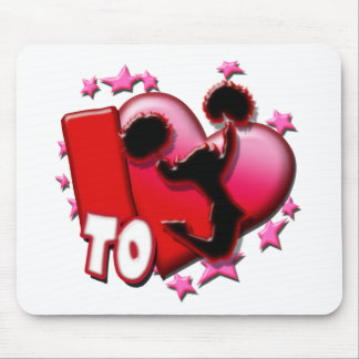 I Love to Cheer (Red) Mouse Pad