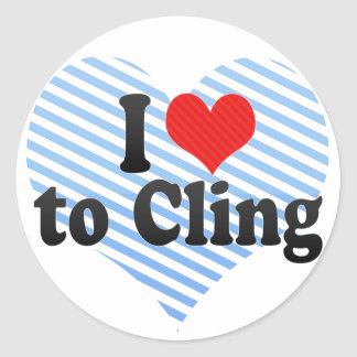 I Love to Cling Stickers