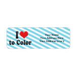 I Love to Color Custom Return Address Label