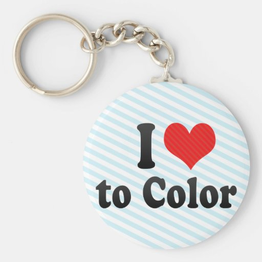I Love to Color Keychain