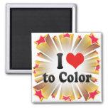 I Love to Color Refrigerator Magnet