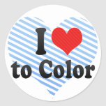 I Love to Color Sticker
