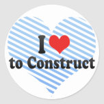 I Love to Construct Sticker