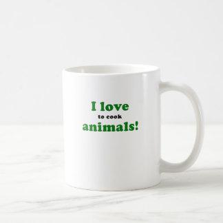 I Love to Cook Animals Coffee Mug