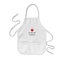 I love to cook with Grandma apron