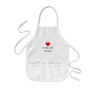 I love to cook with mommy! kids' apron
