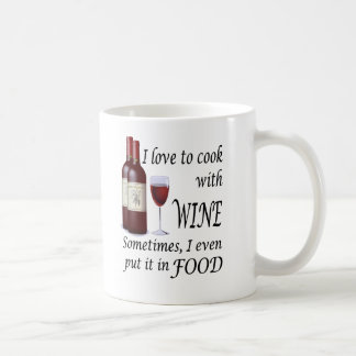 I Love To Cook With Wine - Even In Food Mug