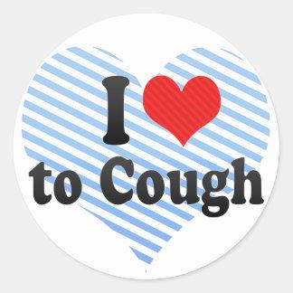 I Love to Cough Sticker