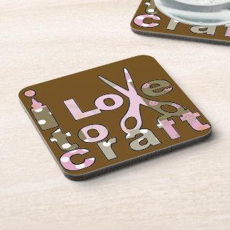 I Love to Craft Drink Coaster
