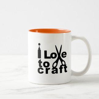 I Love to Craft Two-Tone Coffee Mug