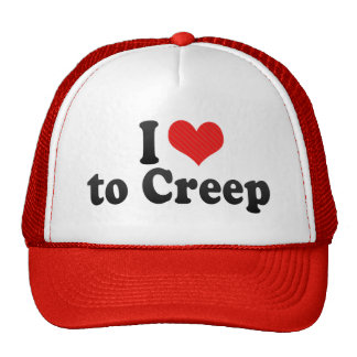I Love to Creep Mesh Hats