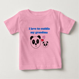 I LOVE TO CUDDLE MY GRANDMA INFANT T-SHIRT