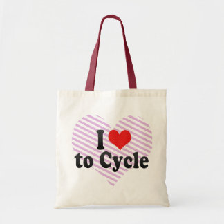 I Love to Cycle Tote Bags
