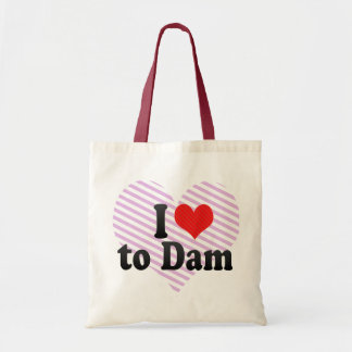 I Love to Dam Canvas Bags