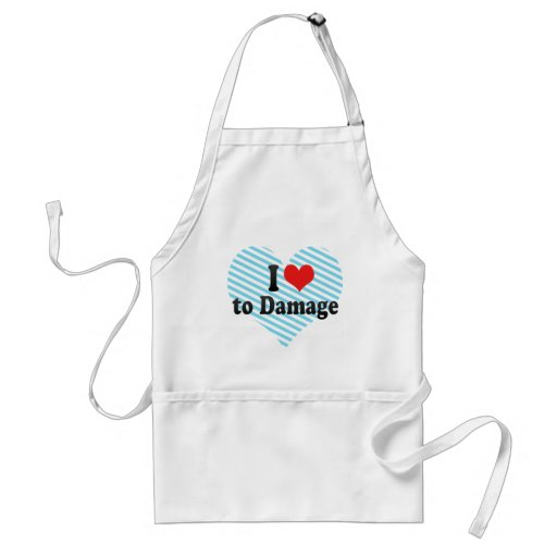 I Love to Damage Aprons