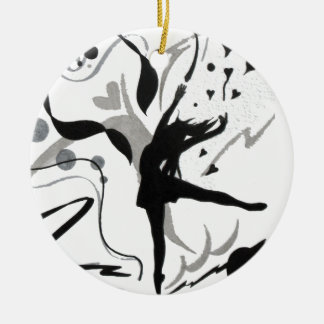 I Love To Dance! Double-Sided Ceramic Round Christmas Ornament