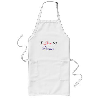 I Love to Dance Long Apron