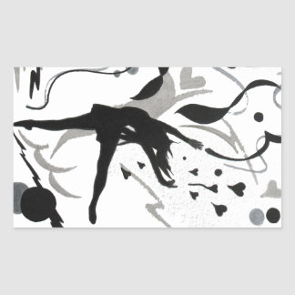 I Love To Dance! Rectangular Sticker