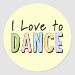 I Love To Dance Stickers