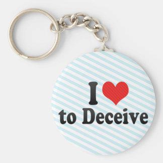 I Love to Deceive Keychain
