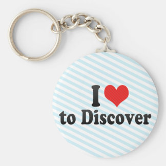 I Love to Discover Keychain