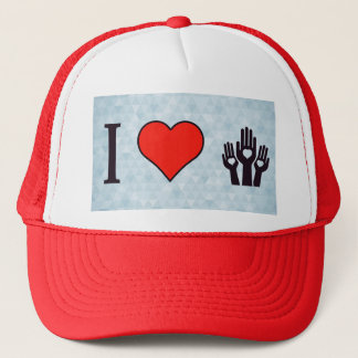 I Love To Distribute Love Trucker Hat