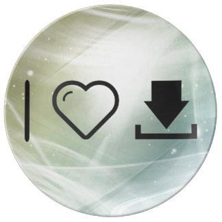 I Love To Download Finishes Porcelain Plate