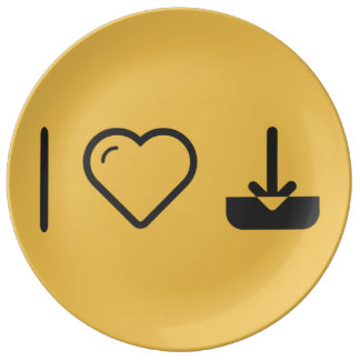 I Love To Download Remainings Porcelain Plate
