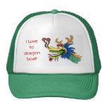 I Love to dragon boat Hats