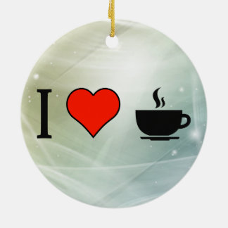 I Love To Drink Coffee Double-Sided Ceramic Round Christmas Ornament