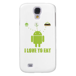 I Love To Eat (Android Bug Droid Cupcake Eclair) Samsung Galaxy S4 Cover
