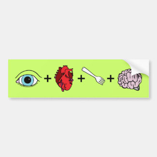 I Love to Eat Brains - Zombie Bumper Stickers