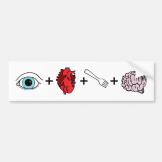 I Love to Eat Brains - Zombie Car Bumper Sticker