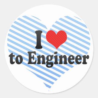 I Love to Engineer Sticker
